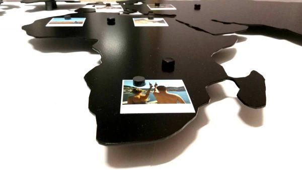 Personalizowana stalowa mapa podróży na ścianę ze zdjęciami PicArta