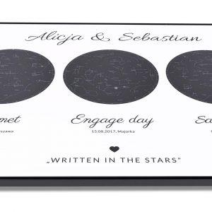 Wasza mapa gwiazd spersonalizowana mapa nieba na prezent