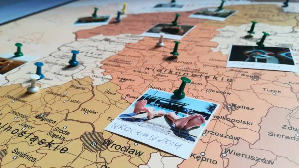 Mapa Polski - mapa podroży do oznaczania odwiedzonych miejsc PicArta