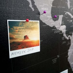 Personalizowana mapa świata do oznaczania podroży na ścianę PicArta