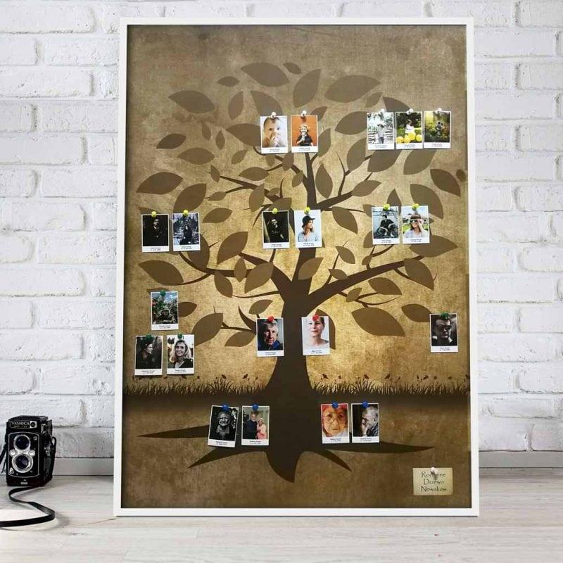 Drzewo genealogiczne na prezent ze zdjeciami
