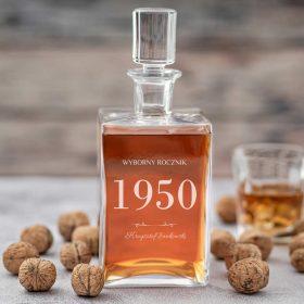 Karafka do whisky grawerowana ze szklankami