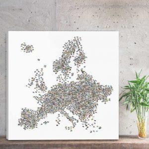 Kolaż ze zdjęć mapa europy