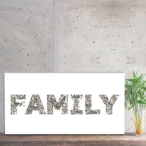 Foto kolaż ze zdjęć z napisem family PicArta