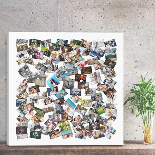 Foto kolaż ze zdjęć w kształcie kwadratu PicArta
