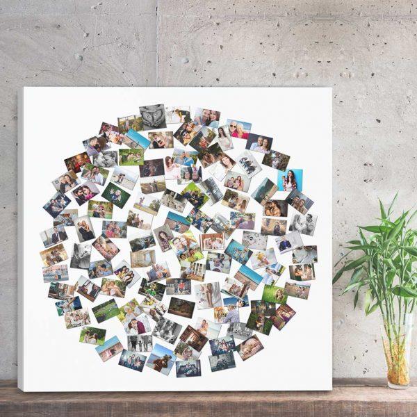 Foto kolaż ze zdjęć w kształcie kuli PicArta