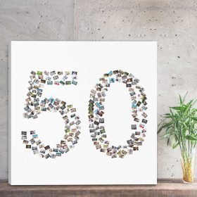 kolaż ze zdjęć prezent na 50 rocznicę ślubu na 50 urodziny
