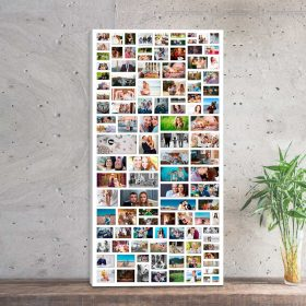 Kolaż ze zdjęć prostokąt prezent na urodziny