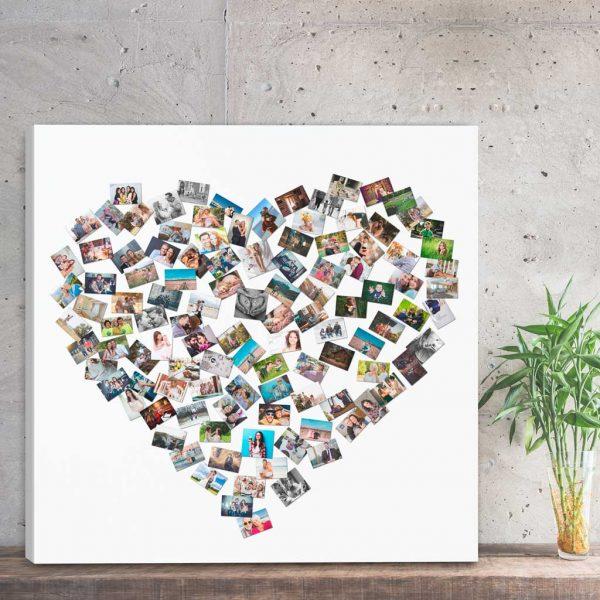 Kolaż ze zdjęć serce PicArta
