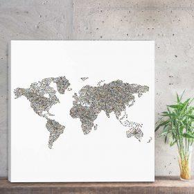 Mapa świata ze zdjęciami