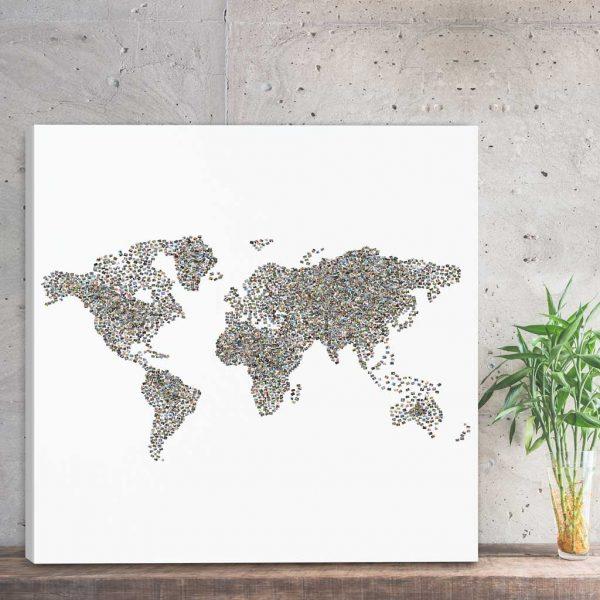 Foto Kolaż mapa świata ze zdjęciami PicArta