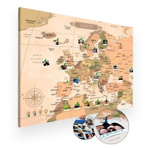 Mapa Europy na ścianę do oznaczania podróży na ścianę XXL A0