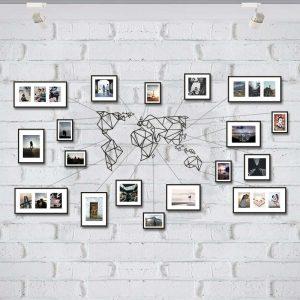 Metalowa mapa świata na ścianę PicArta