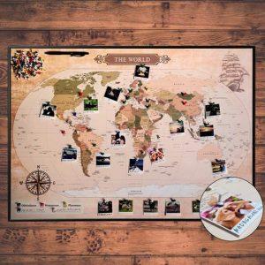 Mapa podróży do zaznaczania odwiedzonych miejsc