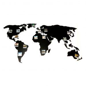 Metalowa mapa świata na ścianę
