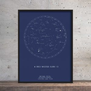 Personalizowana mapa nieba plakat PicArta