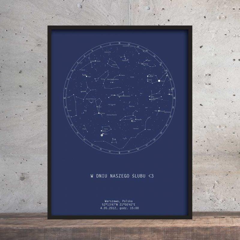 wygląd mapy nieba danego dnia