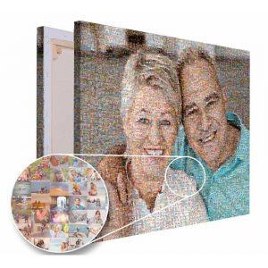 Mozaika ze zdjęć prezent dla babci i dziadka PicArta