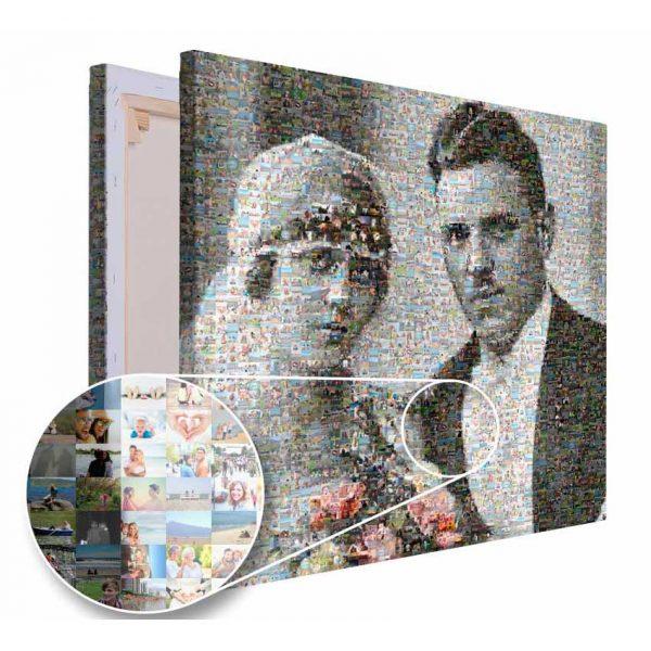 Mozaika ze zdjęć prezent na rocznice ślubu rodziców PicArta
