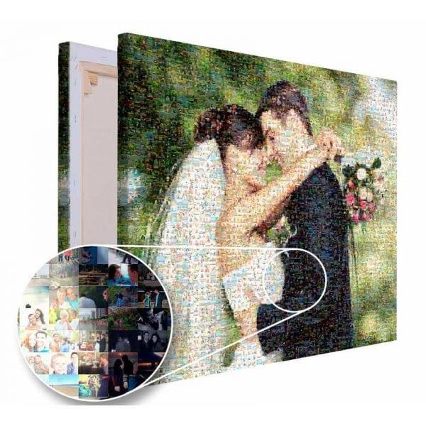 Mozaika ze zdjęć prezent na wesele PicArta