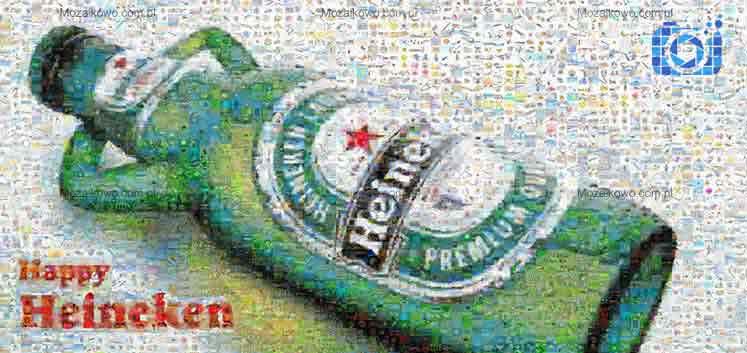 Wideo mozaika ze zdjęć dla firm Heineken PicArta