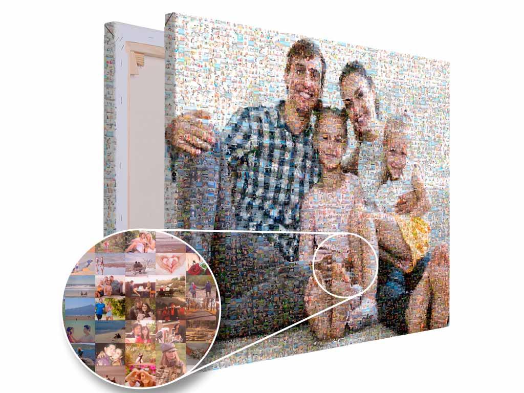 Fotomozaika mozaika ze zdjęć całej rodziny PicArta