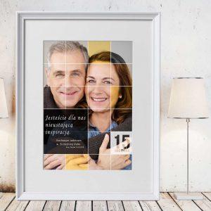 Kolaż ze zdjęć obraz na prezent rocznicę dla rodziców PicArta