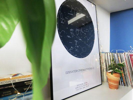 personalizowana mapa gwiazd w danym dniu