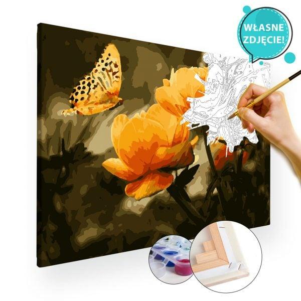 malowanie własnego zdjęcia po numerach kwiaty