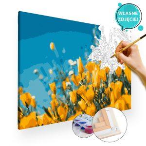 malowanie po numerach kwiaty z własnego zdjęcia