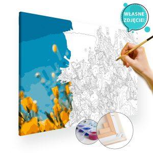 malowanie po numerach kwiaty z własnego zdjęcia w trakcie