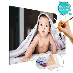 malowanie po numerach własne zdjęcie dla dzieci niemowląt