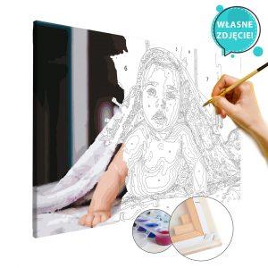 malowanie po numerach własne zdjęcie dziecko niemowlę w realizacji