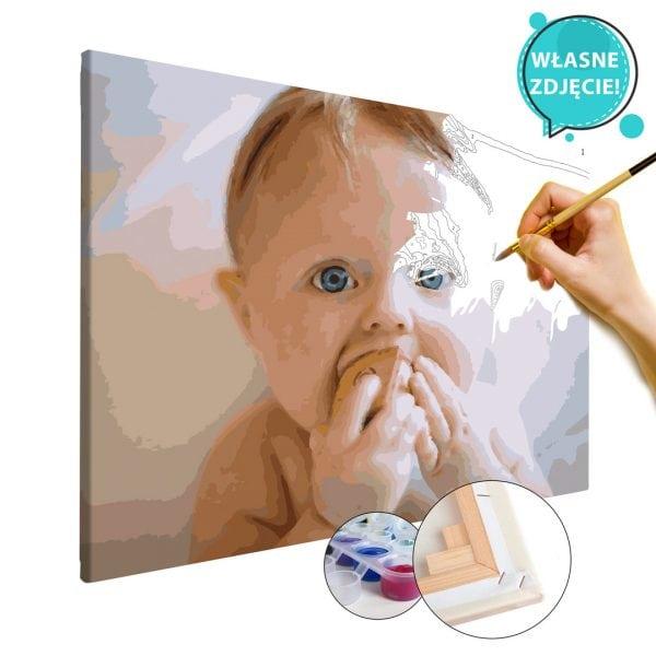 malowanie po numerach z własnego zdjęcia dziecko niemowlę