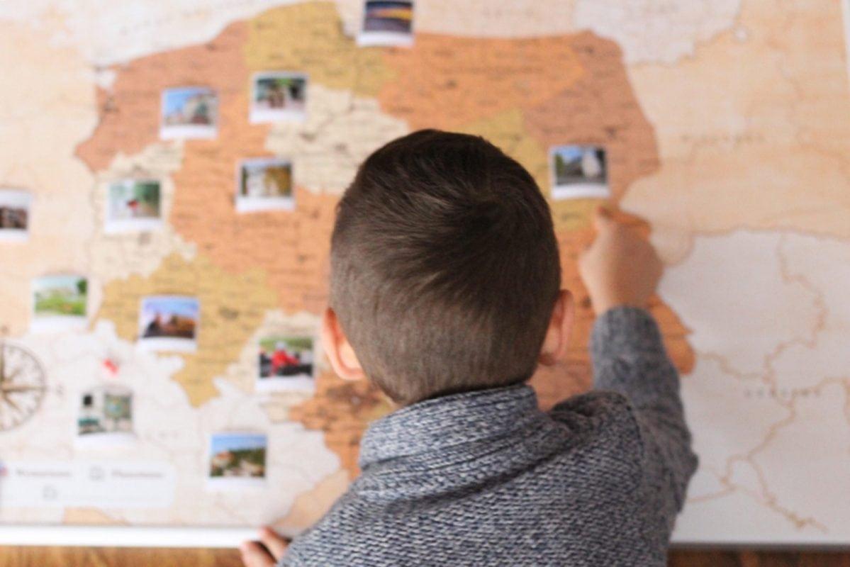 mapa polski na ścianę do oznaczania podróży opinia matkamezatka.pl