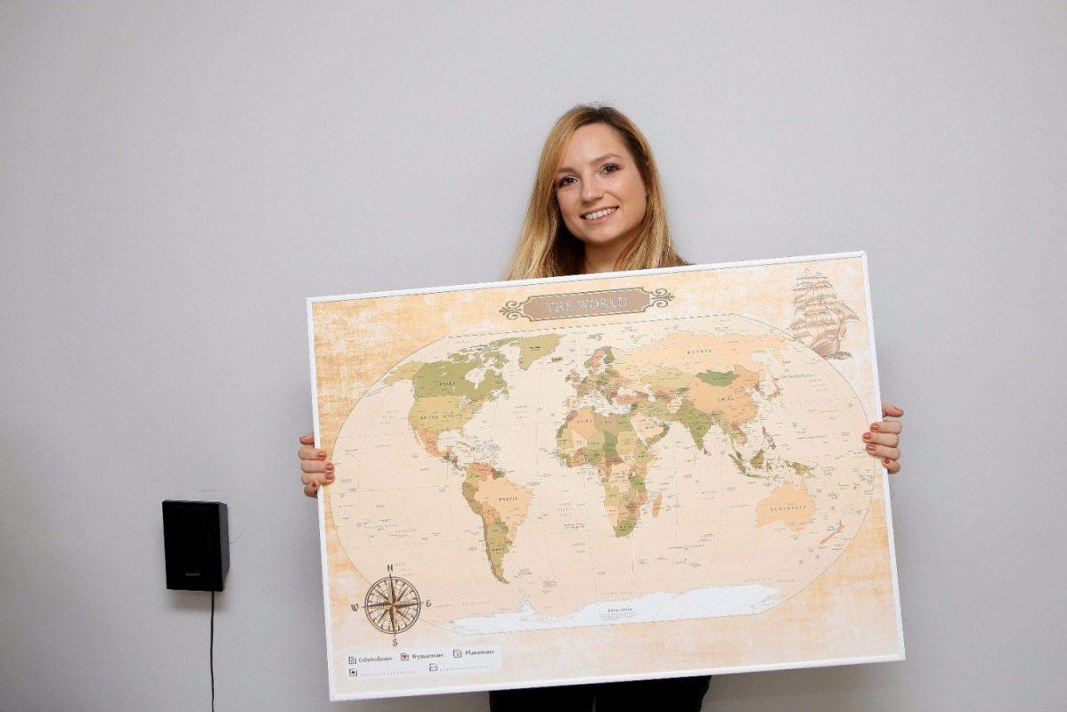 mapa świata do oznaczania podróży szukajackoncaswiata.pl