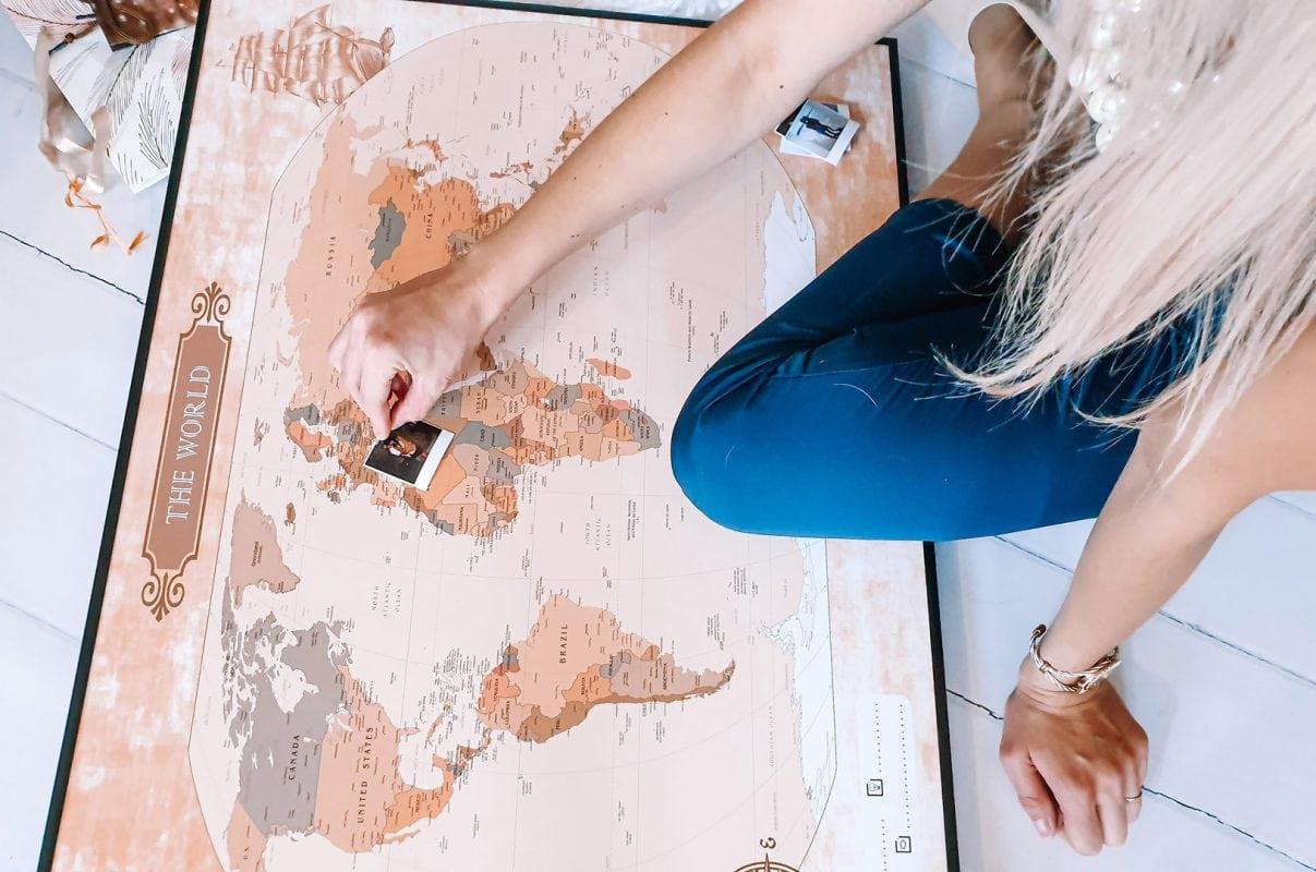 mapa świata na ścianę do oznaczania podróży opinia sandra