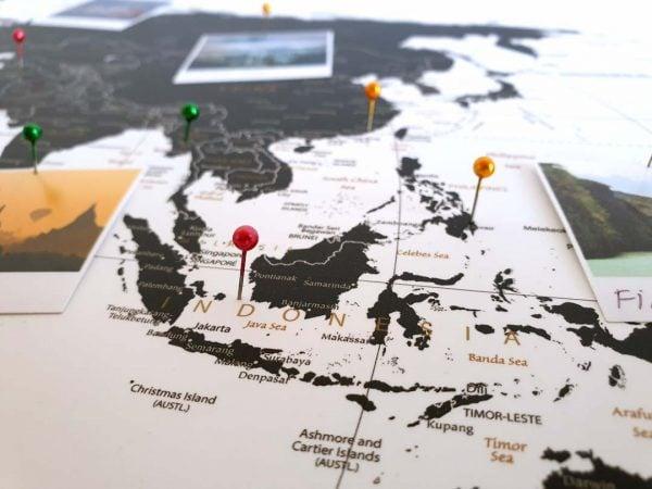 Korkowa mapa świata na ścianę
